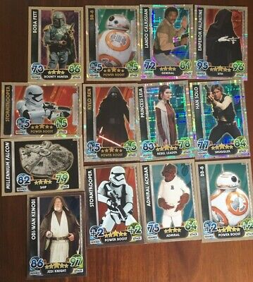 Lot 2 Topps Starwars Star Wars Force Attack Trading Cards - Some Limited EDT