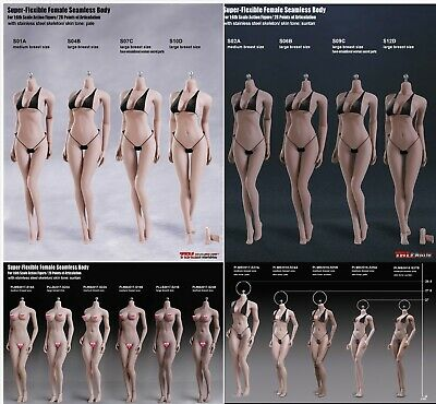 "TBLeague 1/6 Female Body Phicen Seamless Figure Doll Model 12"" Flexible PH Toy"