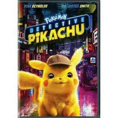 Pokemon: Detective Pikachu DVD 2019 New & Sealed with Free Shipping