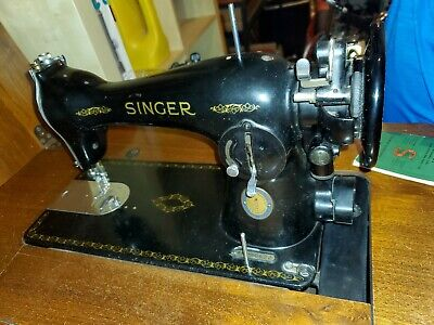 NICE Vtg 1951 SINGER 15-91 Electric Sewing Machine +EXTRAS, Pedal, Manual WORKS