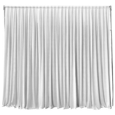 2MX2M White Stage Wedding Party Backdrop Photography Background Curtain Drapes