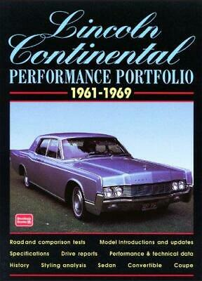 Lincoln Continental Performance Portfolio, 1961-1969, Paperback,  by R. M. Clar