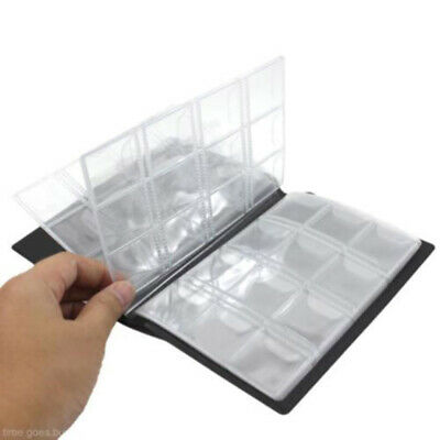 1X 120 Coins Holder Collection Album Money Storage Pockets Penny Book Collecting