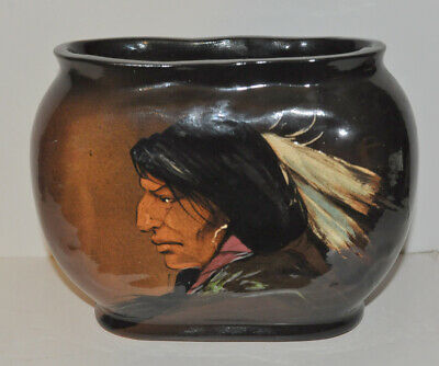 1981 Wihoas Rick Wisecarver Hand Painted Art Pottery Indian Vase