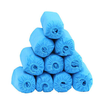 100pcs 50 Pairs Booties Shoe Covers Non Slip Disposable Overshoes Blue HOT NEW
