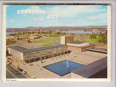 Foldout Canberra Act 12 Scenes Nationalview  Postcard C1960