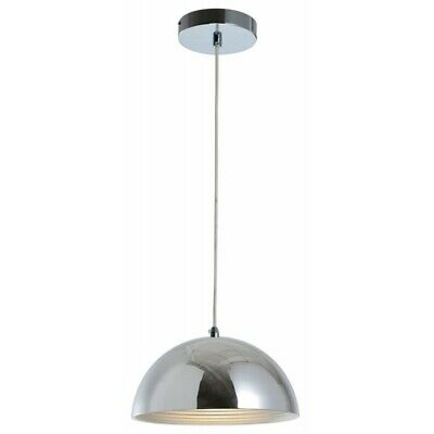 "Paris Prix - Lampe Suspension Design ""mads"" 30cm Chrome"