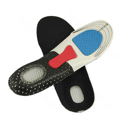 FJ- Men's Cushion Foot Care Shoes Insert Pad Sole Insole Silicone Gel Shoes Pad