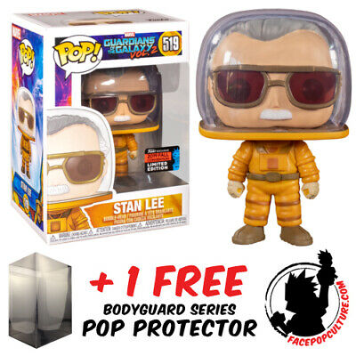 Funko Pop Marvel Gotg 2 Stan Lee Astronaut Cameo Nycc 2019 Exclusive + Protector