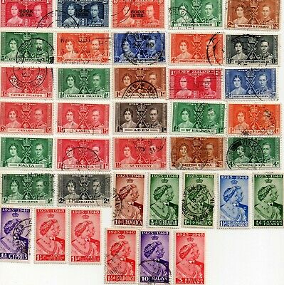 commonwealth stamps, george vi coronation and silver wedding