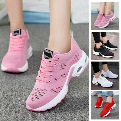 2019 Women's Outdoor Sports Athletic Sneakers Anti-Slip Breathable Jogging Shoes