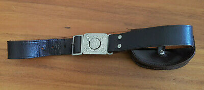 Vintage Girl guides Leather belt with Be Prepared Buckle and leather pouch