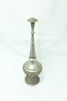 Antique Handmade Rose Water Sprinkler Gulab Dani Solid SILVER Hand Engraved