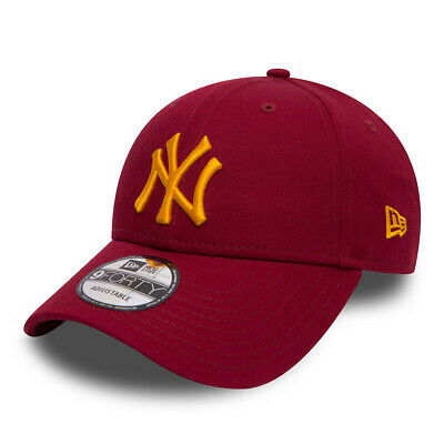 New Era New York Yankees Essential Cardinal Red 9Forty Bnwt One Size