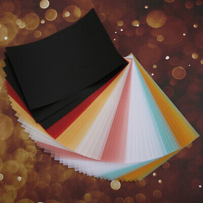 50x Coloured Card Cardboard DIY Craft Paper Making Cardstock Craft Supplies Hot