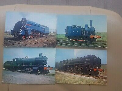Vintage Railway Train Post Cards