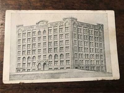 C 1910 Country Producers Selling Company Limited warehouse Sydney postcard wool