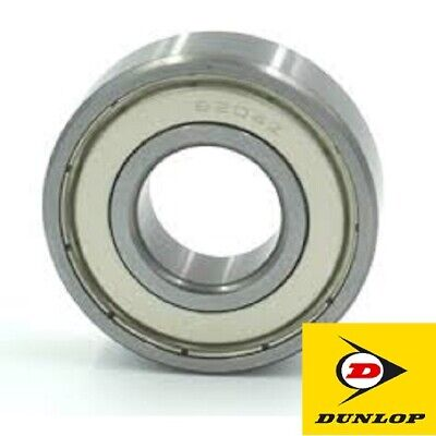 6204-2Z BEARING BY DUNLOP IN SEALED BOX WITH HOLOGRAM. SIZE: 20mm x 47mm x 14mm