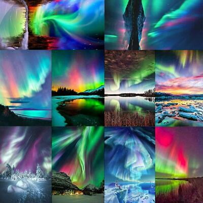 5D DIY Full Drill Diamond Painting Aurora Scenery Embroidery Home Decor LY