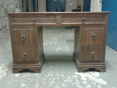 Antique, Finely Carved, Pine Desk. Original condition