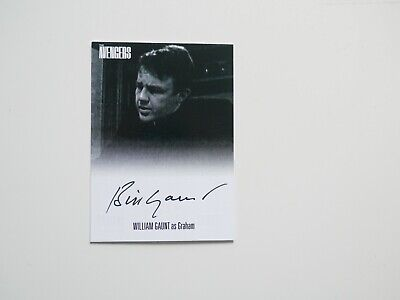 THE AVENGERS COMPLETE COLLECTION Autograph Card William Gaunt  AVWG1 (Black)