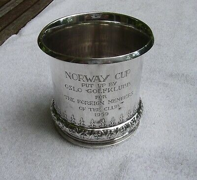 Unusual TOSTRUP Norway Sterling NORWAY CUP Oslo-Golfklubb Golf TROPHY-1959