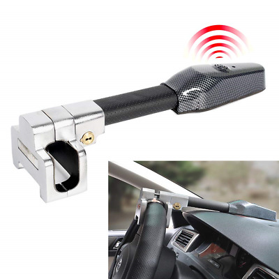 Car Steering Wheel Lock With Alarm Auto Antitheft Locking Keys Security Value