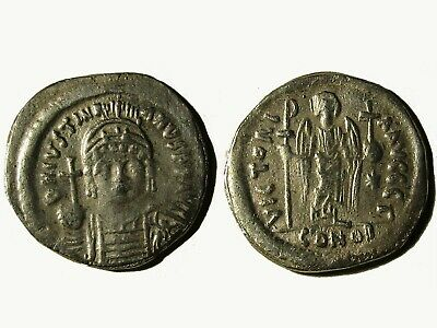 Ancient Byzantine Silver Siliqua Of  Justinian I (527-565),  Very Rare!!!