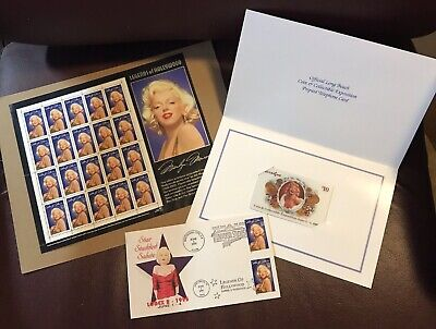 Marilyn Monroe Phone Card, Stamp Sheet and Envelope