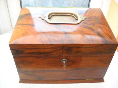 Beautiful Burr Walnut Victorian Jewellery Box.