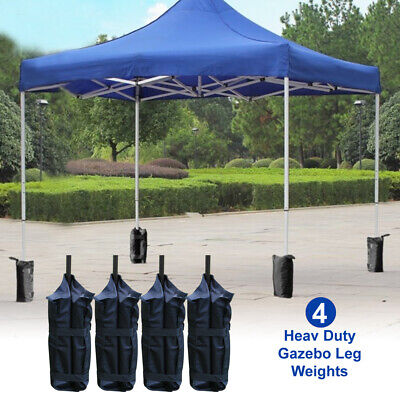 Set of 4 Garden Gazebo Pole Foot Sandbag Leg Weight Market Marque Stall Sand Bag