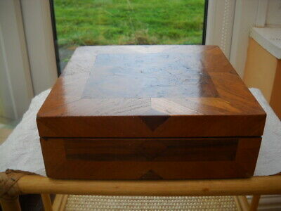 Walnut Sewing Box And Contents.