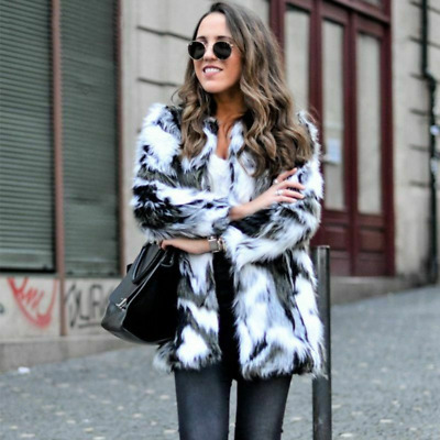 Outerwear Fur Coat For Women Stylish Winter Clothes Jacket Thick Warm Soft Vest