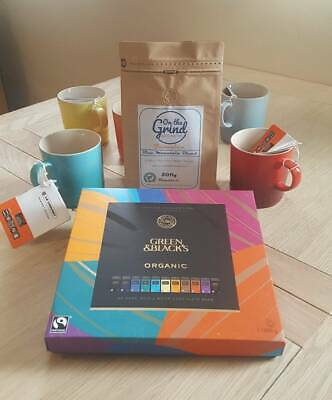 Luxury Jamaican Blend Coffee, Chocolates & 2 x Le Creuset Mug Gift Set