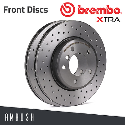 Brembo Pads FORD MONDEO 1.8 TDCi 6//07-ON Drilled /& Grooved FRONT Brake Discs
