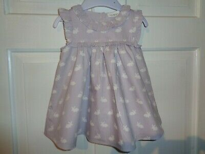 Next Girls Pretty Lilac Bunny Rabbit Dress - 3-6 Months