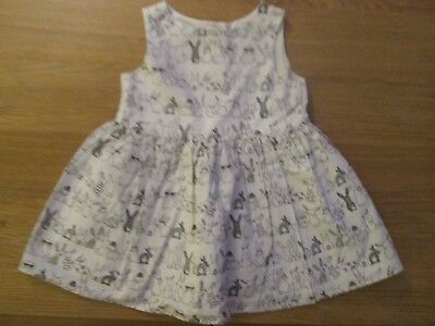Next Girls Pretty Bunny Rabbit Dress - 3-6 Months