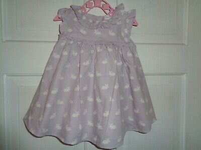 Next Girls Pretty Lilac Bunny Rabbit Dress - 0-3 Months
