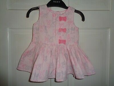 Next Girls Pretty Bunny Rabbit Corduroy Dress - 3-6 Months