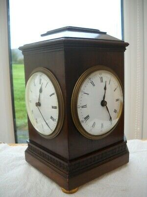Rare Two Sided Dial French Mantel Clock For Repair.