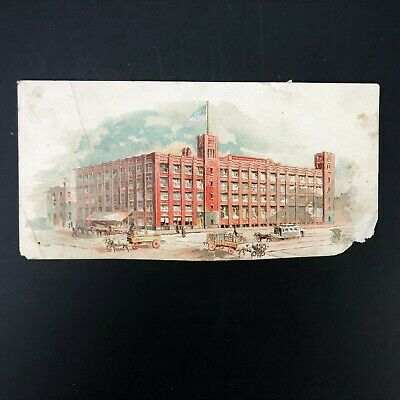 1880s Victorian Advertising Trade Card New York Biscuit Company Factory Horses