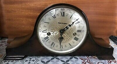 Napoleon Hat mantle clock German Kieninger Westminster chimes VGC Fully Working