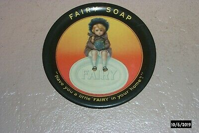Early 1900s Antique Little Fairy Soap Tin Litho Tip Tray