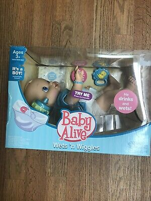 Baby Alive Wet 'N Wiggles Anatomically Correct Boy New In Box