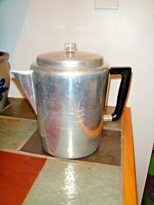 Vintage Sears Maid of Honor Aluminum Percolator Stove Top Coffee Pot Camp 8 Cup