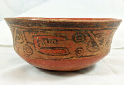 Authentic Mayan Glyph Bowl   El Salvador   PreColumbian
