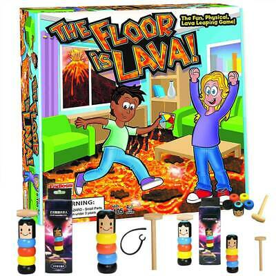 Hot Lava jumping! Wood Magic Toy Easy To Play Board Game for Kids and Adult Gift