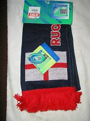 England Rugby Union Football Scarf Rugby World Cup 2003 Brand New IRB Official