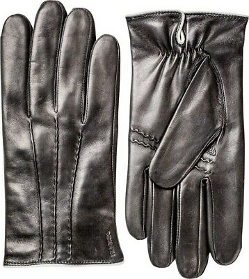 Hestra Collection WILLIAM Hairsheep Leather Gloves Black 8 Medium Womens