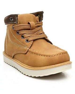 New Kids Beverly Hills Polo Club Wheat Tan Chukka Light Weight Lace Up Boots
